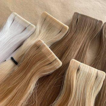 Włosy na taśmy z imitacją skóry